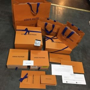 7+ Louis Vuitton gift boxes, shopping Bags & cards